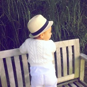Straw baby fedora from baby gap